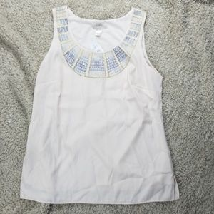 NWT Ann Taylor Loft Embroidered Tank Top